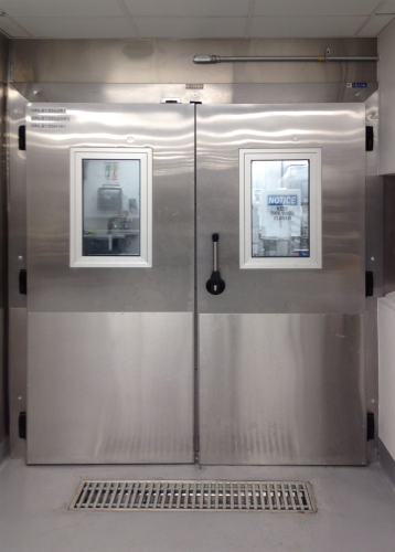 The inactive leaf can be opened to accommodate forklift or motor vehicle access and has a u0027breakawayu0027 feature to minimize damage from material handling ... & Frank Door Company - The Leader in Cold Storage Door Cooler Door ...